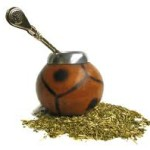 Traditional calabash gourd and Bombilla, drinking straw